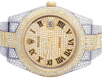 Rolex Datejust II 126303 Two Tone 18K/ Steel 41MM Full VS Diamond Watch 27.75 Ct