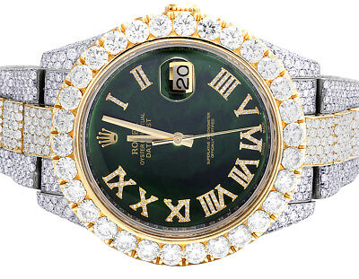Rolex Datejust II 126303 Two Tone 18K/ Steel 41MM Full VS Diamond Watch 29.55 Ct
