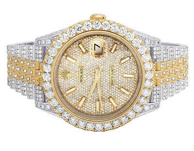 Rolex Datejust II 126303 Two Tone 18K/ Steel 41MM Full VS Diamond Watch 26.55 Ct