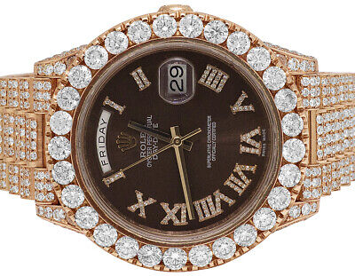 Rolex Day-Date II 228235 40MM President 18K Everose Gold Diamond Watch 29.55 Ct