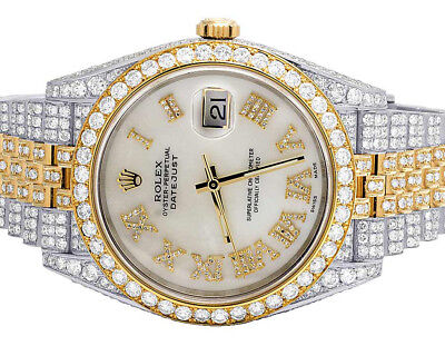 Rolex Datejust II 126303 Two Tone 18K/ Steel 41MM Full VS Diamond Watch 24.5 Ct
