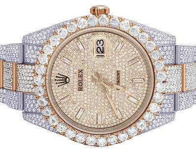 Rolex Datejust II 126331 41MM 18K Everose Steel Iced Out Diamond Watch 29.55 Ct