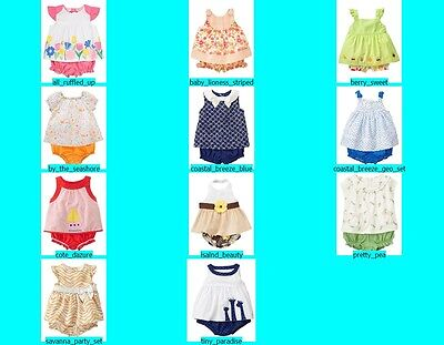 NWT Gymboree Baby Girl 2 pc Dress Bloomers Outfit Set NEW FREE US SHIPPING