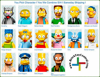 LEGO® 71005 Minifugure Series The Simpsons™ YOU PICK character SAME DAY ship