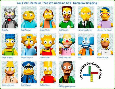 LEGO® 71005 Minifugure Series The Simpsons™ YOU PICK character SAME DAY ship