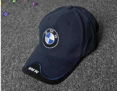 Bmw Logo Blue Black Baseball Cap Embroidered Logo Adjustable Hat Car