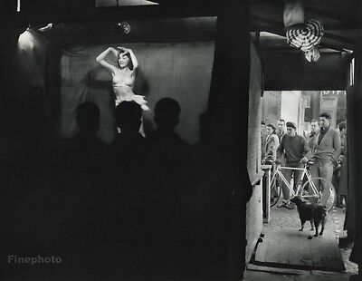 1955 Vintage WANDA Stripper BURLESQUE Dancer Photo Art 11x14 By ROBERT DOISNEAU