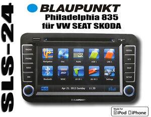 vw skoda seat blaupunkt philadelphia 835 navigation mit touchscreen bluetooth 3d ebay. Black Bedroom Furniture Sets. Home Design Ideas