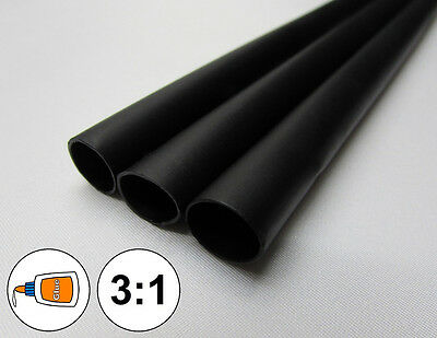 1 Foot 38 Black Heat Shrink Tube 31 Dual Wall Adhesive Glue Marineto 0.375