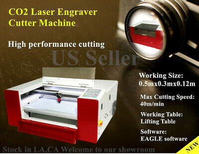 40w E-5030 Co2 Laser Engraving Machine Laser Engraver Cutter Lifting Table Eagle