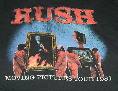 Rush T Shirt XXL Moving Pictures Neil Peart Geddy Lee