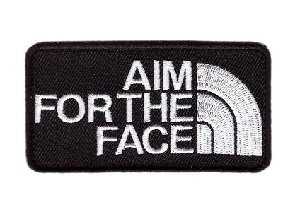 Hook Aim For the Face 2nd Amendment Tactical Bag Cap Morale Gear Patch