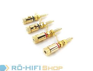 Lautsprecher Terminal / Polklemme vergoldet Set 4 Stück | NEU