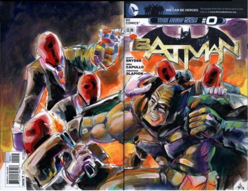 Batman #0 CGC 9.8 Original Batman Sketch by John Hairston Jr.