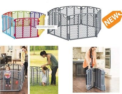 Evenflo Playard Kids Baby Safety Gate Indoor Outdoor Playing