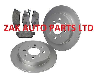 HONDA JAZZ MK2 1.2 1.4 (2004-2008) REAR BRAKE DISCS AND BRAKE PADS SET NEW