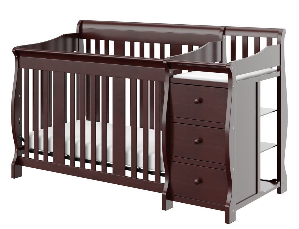 Storkcraft Baby Portofino 4 in 1 Fixed Side Convertible Crib Changer ...