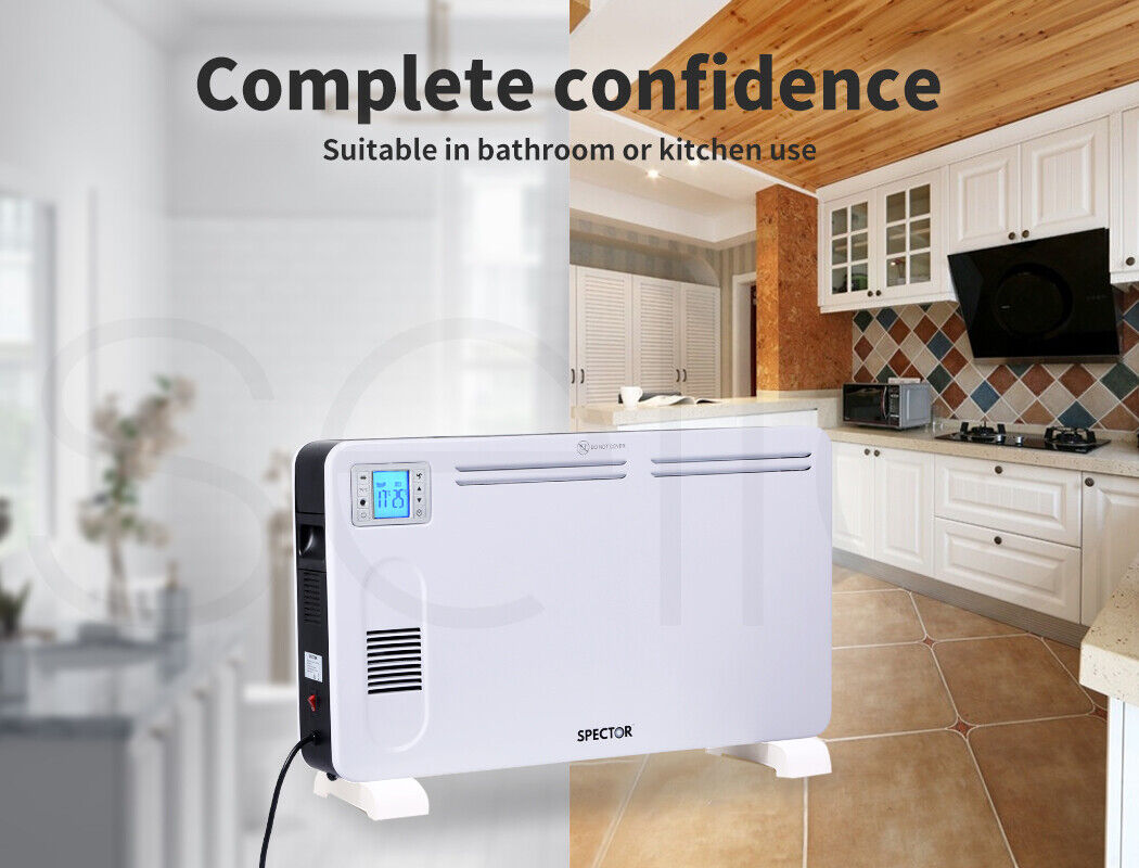 Spector Electric Panel Heater Portable Convection Remote Control 2300W 4