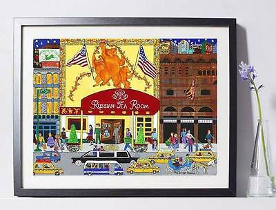 (Russian Tea Room NYC Art Reproduction 8x10