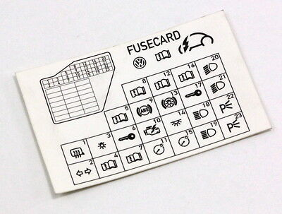 Vw Fuse Card