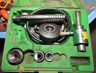 Greenlee 7646 Hydraulic Knockout Punch Driver Set Inv.33483