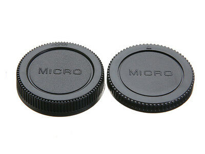 Camera Body & Lens Rear Cap Cover For Olympus Micro 4/3 M4/3 UK STOCKIST