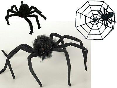 Deko Riesenspinne Spinne schwarz orange Spinnennetz Halloween (Riesen Spinne Halloween Deko)