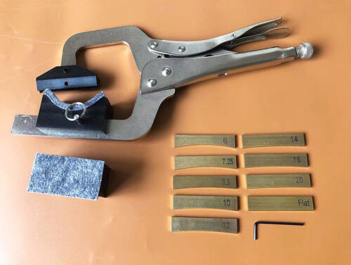 Handheld Fret Press (include 2 neck cauls) + 9 Inserts