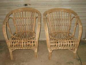 vintage retro cane chairs