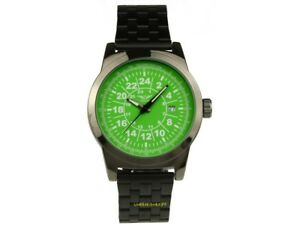 Quartz Watch by Minoir Mit 24 Hours Face Date and Metal Armband World Time