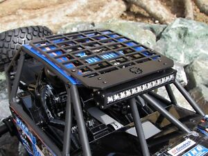 Gear Head RC 1/10 Scale Bomber Slim Line Roof Rack with Light Bar Mount GEA1308