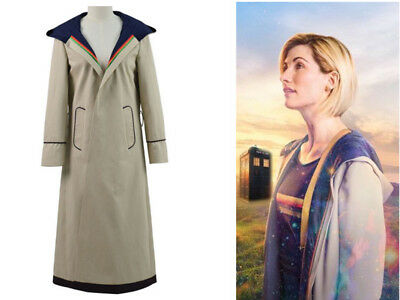 13th female Doctor who Cosplay Costume Coat 13th Doctor Jodie Cosplay Costume{CO](Female Doctor Costume)