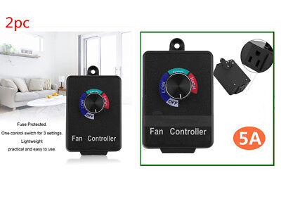 2pc Variable Speed Controller Electric Motor Rheostat Ac 120v For Brush Fan Acm