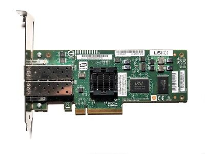 LSI 2-Port 4Gbps LSI7204EP-LC Fibre Channel PCI Express Card Karte