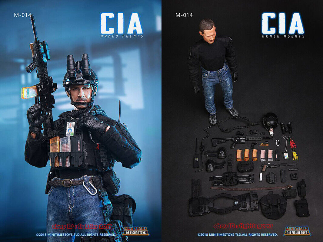 """Mini Times toys MT-M014 1//6 CIA Armed Agent Credentials Model For 12/"""" Figure"""
