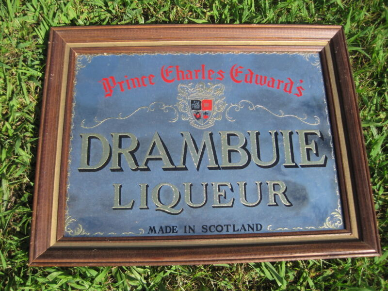 Vintage Drambuie Liqueur Framed Mirror Advertisement - LOCAL NW-NJ ONLY