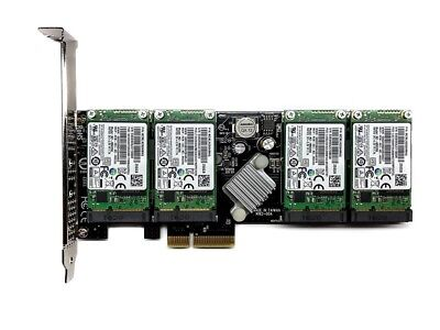 NEW 1TB RAID 4x Samsung EVO 850 250GB mSATA + M.2 PCIe SSD Dual Slot Adapter NEU