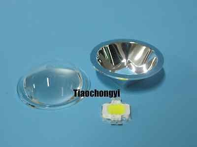 10w High Power Leddiameter 55mm Optical Glass Lens Lens Reflefor Diy Led Kit