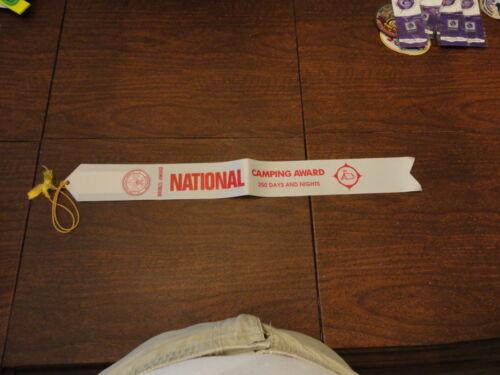 Official BSA National Camping Bronze Award Ribbon -  250  Days & Nights