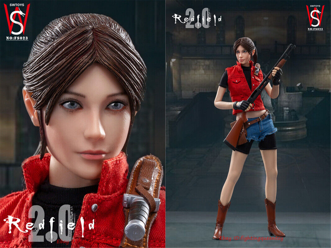 SWTOYS Resident Evil Claire Redfield Action Figure Model 1//6 Scale Action Figure