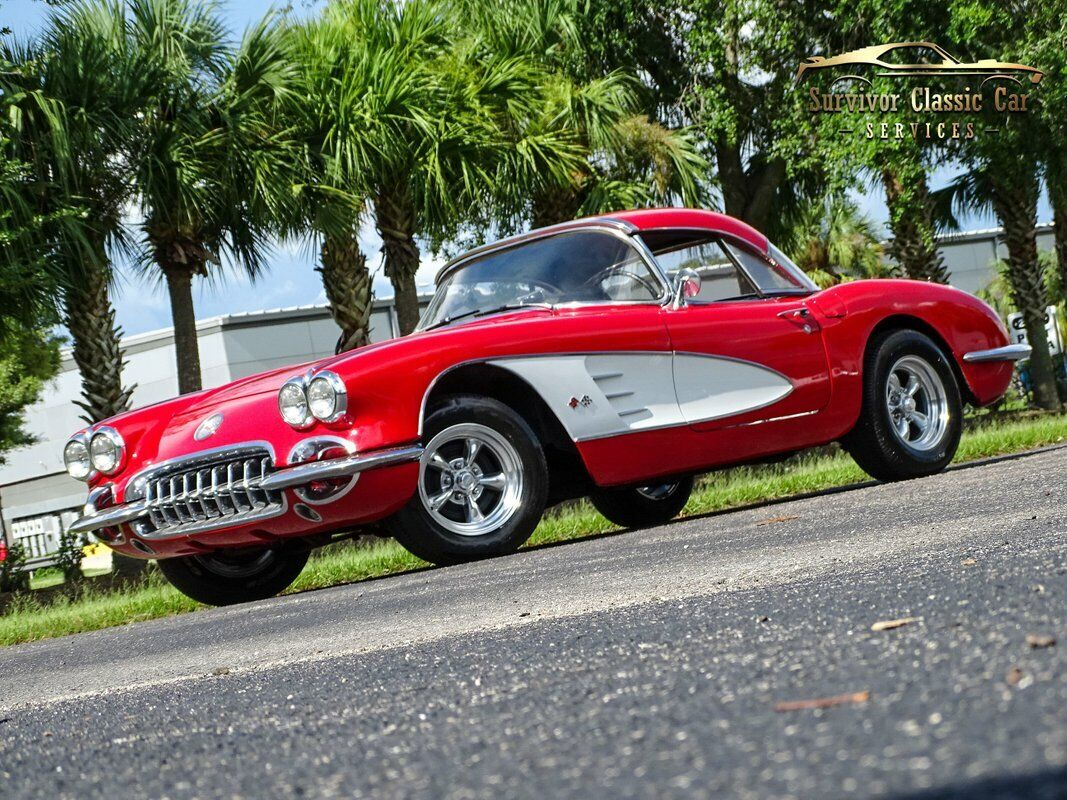 1959 Red Chevrolet Corvette Convertible  | C1 Corvette Photo 1