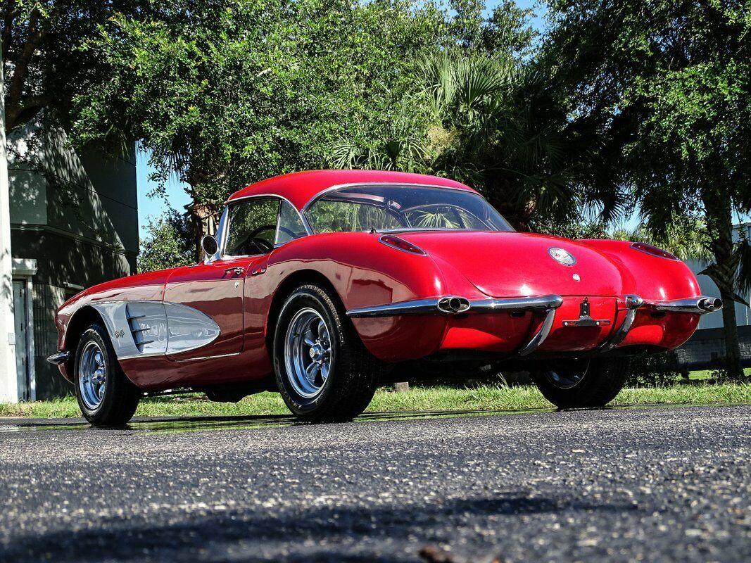 1959 Red Chevrolet Corvette Convertible  | C1 Corvette Photo 8