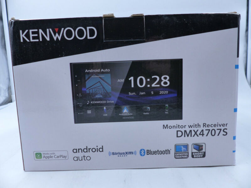 """KENWOOD DMX4707S ANDROID AUTO 6.8"""" MONITOR +RECEIVER  BLUE TOOTH SIRIUS XM READY"""