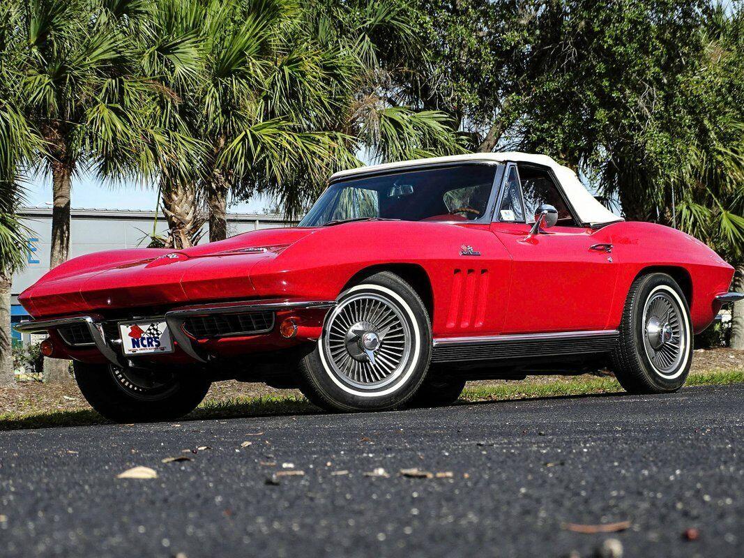 1966 Red Chevrolet Corvette Convertible    C2 Corvette Photo 2
