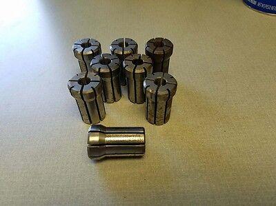 Lot Of 8 Erickson 180da Double Angle Collets 38 Inch Inv.36967