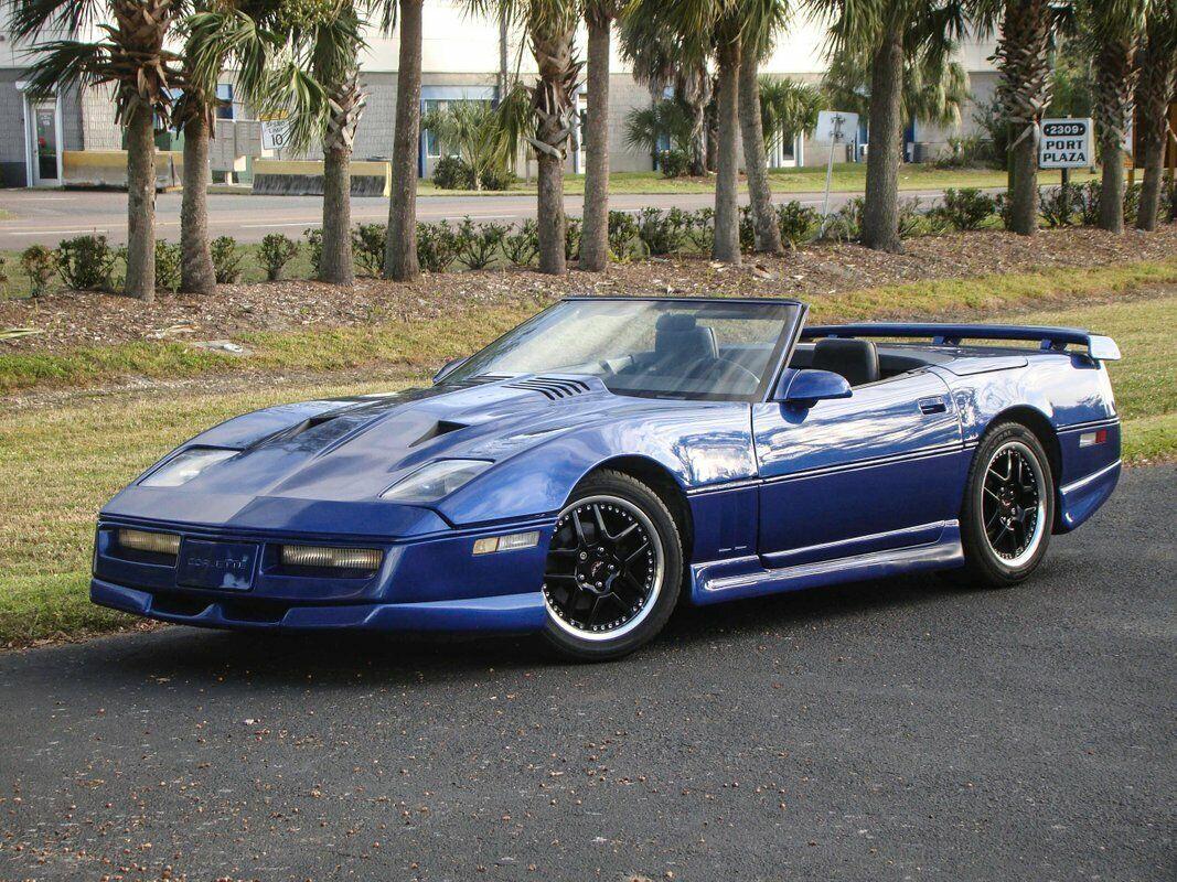 1987 Blue Chevrolet Corvette Convertible  | C4 Corvette Photo 2