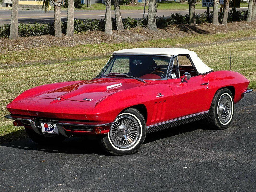 1966 Red Chevrolet Corvette Convertible    C2 Corvette Photo 3