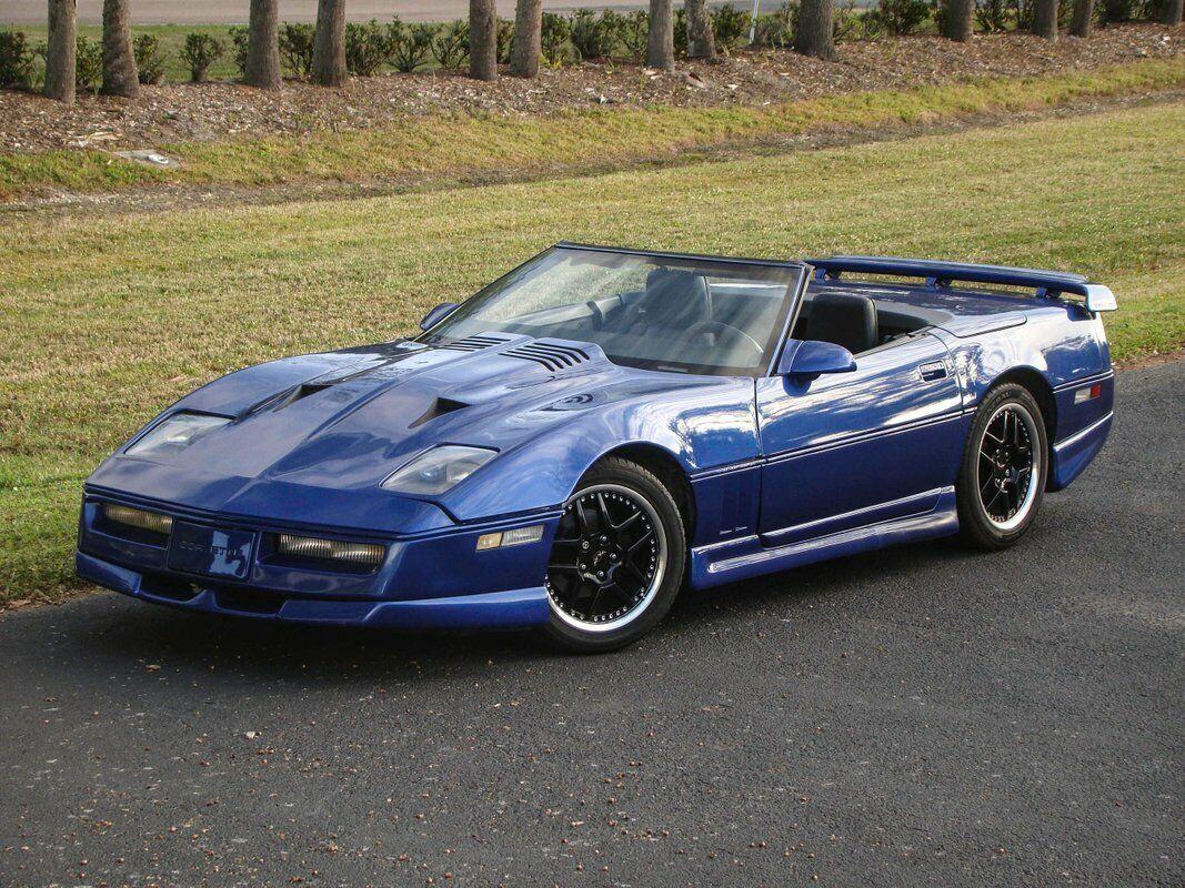 1987 Blue Chevrolet Corvette Convertible  | C4 Corvette Photo 3