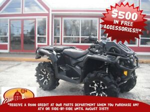2017 CAN-AM OUTLANDER XMR RAD RELOCATE!! HAND GUARDS!! BACK STOR