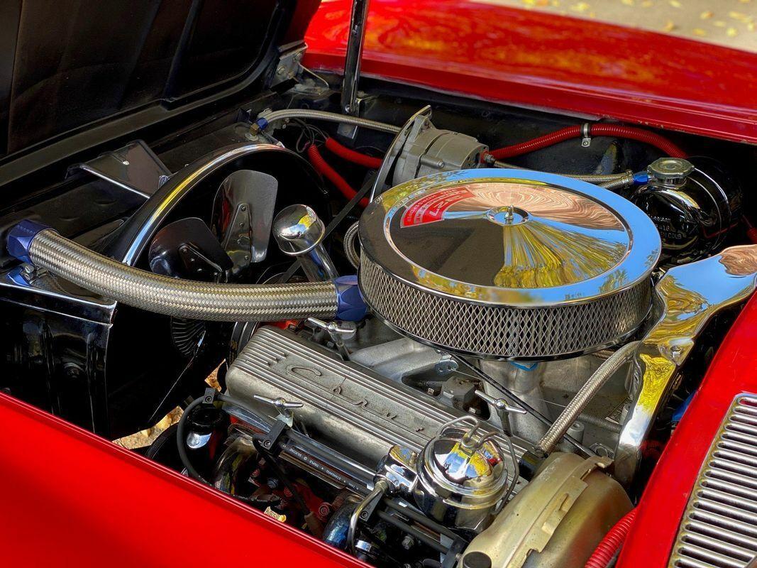 1964 Red Chevrolet Corvette Convertible    C2 Corvette Photo 10